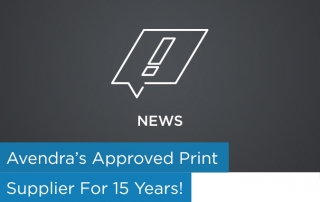 Avendra's Approved Print Supplier for 15 Years